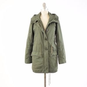New York & Co Army Green Utility Jacket/Coat